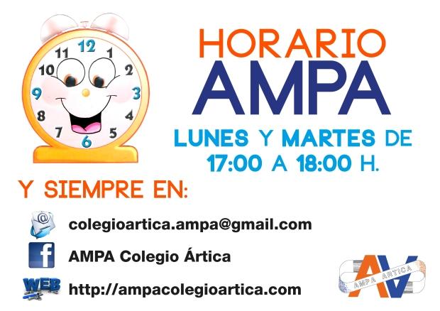 horario ampa 0ct 2015